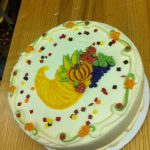cake with cornicopia