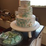 sea glass themed wedding cake