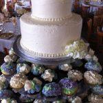 purple cupcakes and cake