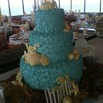 blue beach cake