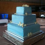 blue wedding cake