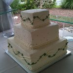 pearls on a wedding cake