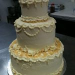 fancy off white cake