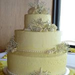 branches and shells on cake
