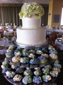 Sweet Disposition Wedding Cake & Cupcakes