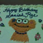 sesame street character on cake