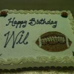 birthday cake for will with football