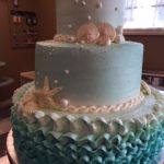 cake with waves on the side