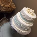 cake with starfish on top