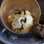 cream puffs in a mug