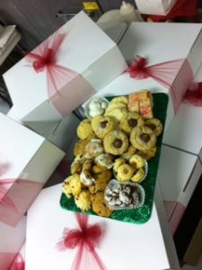 Photo of a tray of Christmas cookies from Sweet Disposition